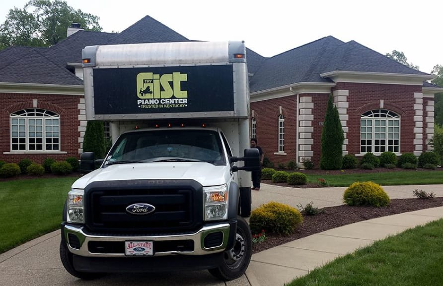Piano moving truck for residential